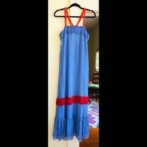 "🌞ANUPAMAA ""Coraline"" Silk MaxiDress Made in India"